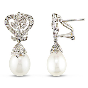 wedding pearl earrings